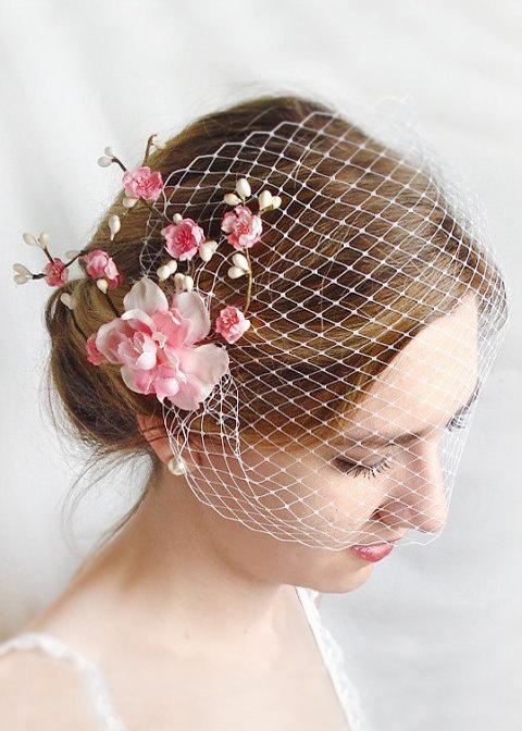 Свадьба - wedding birdcage veil -  bridal bandeau veil