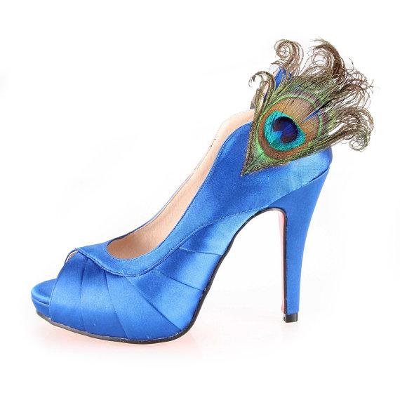 Special Sky Blue Silk Satin Wedding Shoes 2227143