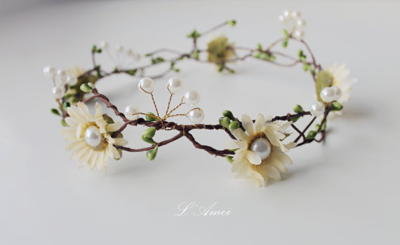 Mariage - wedding flower crown