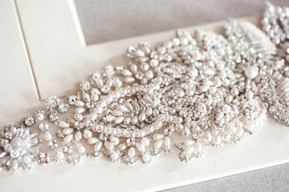 Mariage - beautiful pearls Bridal Sash