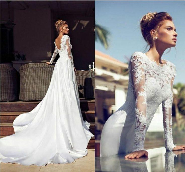 Свадьба - New Sexy Wedding Dress Bridal Gown Lace Custom Size2-4-6-8-10-12-14-16-18