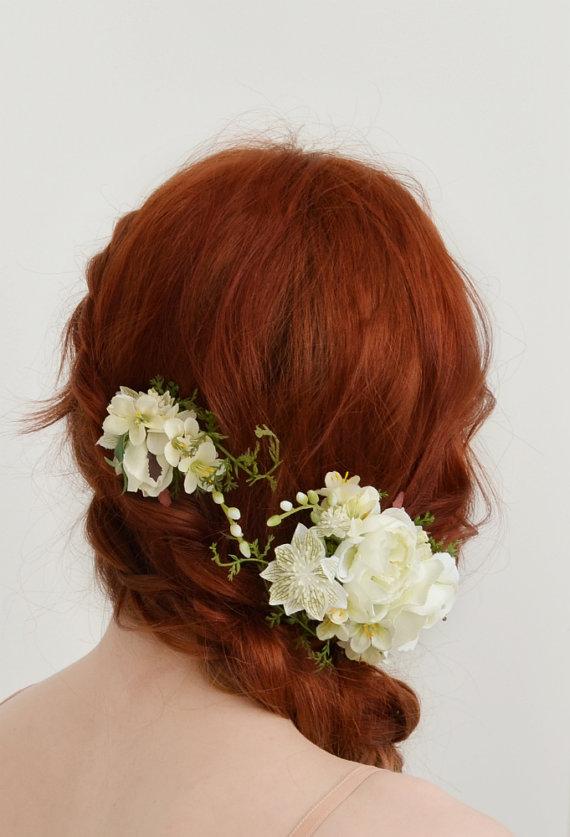 Свадьба - Bridal hair clips