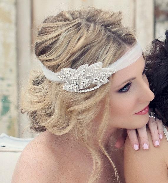 Mariage - Crystal Headband, Wedding Headband, Rhinestone Headband, Wedding Hairpiece, Bridal Headpiece, Crystal Headpiece, Gatsby Wedding - EMME - New