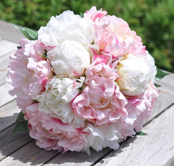 Coral ivory peony silk flower keepsake bouquet 2253738 weddbook coral ivory peony silk flower keepsake bouquet mightylinksfo