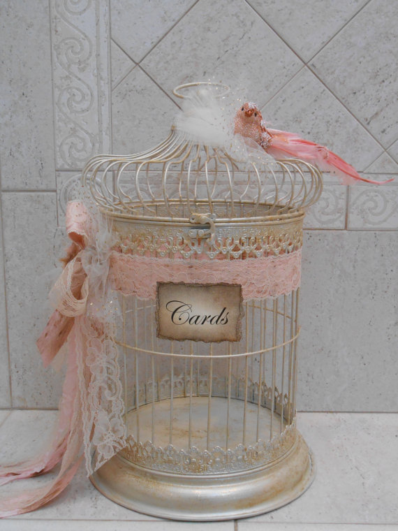 Birdcage Wedding Card Holder Shabby Birdcage Vintage Wedding – Birdcage Wedding Card Box