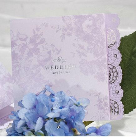 زفاف - Lavender Lical and Purple Wedding Invitation