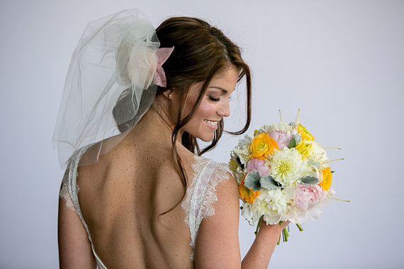 Wedding - Ivory Tulle Short Shoulder Length Bridal veil