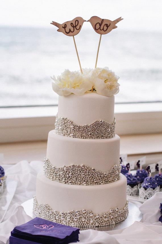 Rustic Wedding Cake Topper Love Birds We Do Vintage Chic Decor (item ...