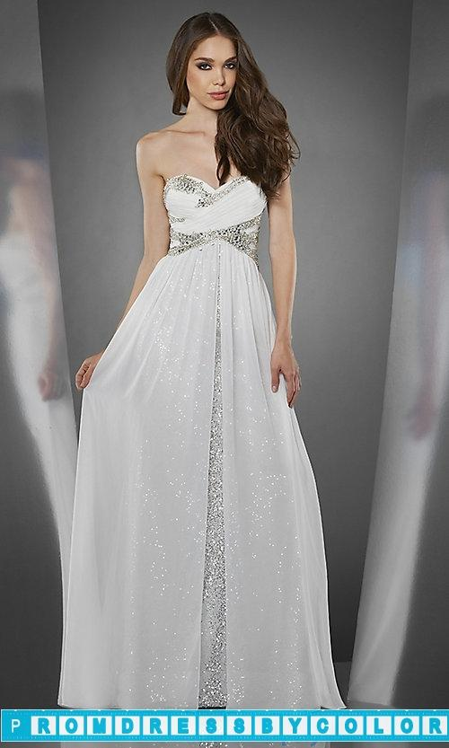 Hochzeit - $141 Designer Prom Dresses - Long Strapless Dress with Sequin Underlay at www.promdressbycolor.com