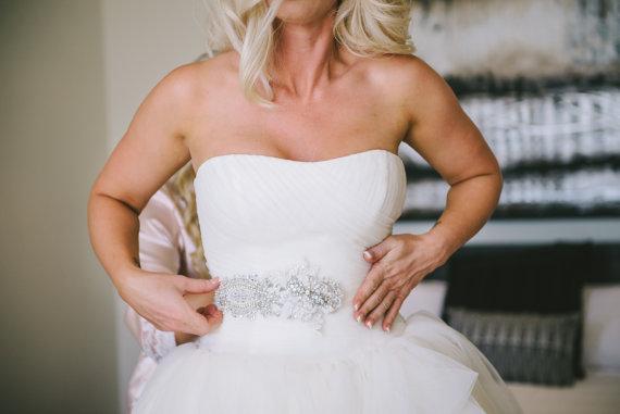 Mariage - Crystal Wedding Belt, Bridal belt, Beaded Wedding Sash - New