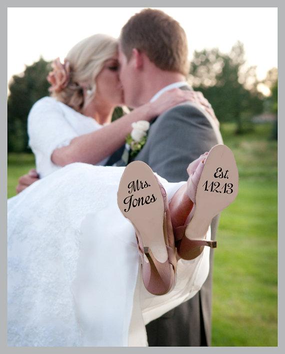 Shoe Wedding Decal New