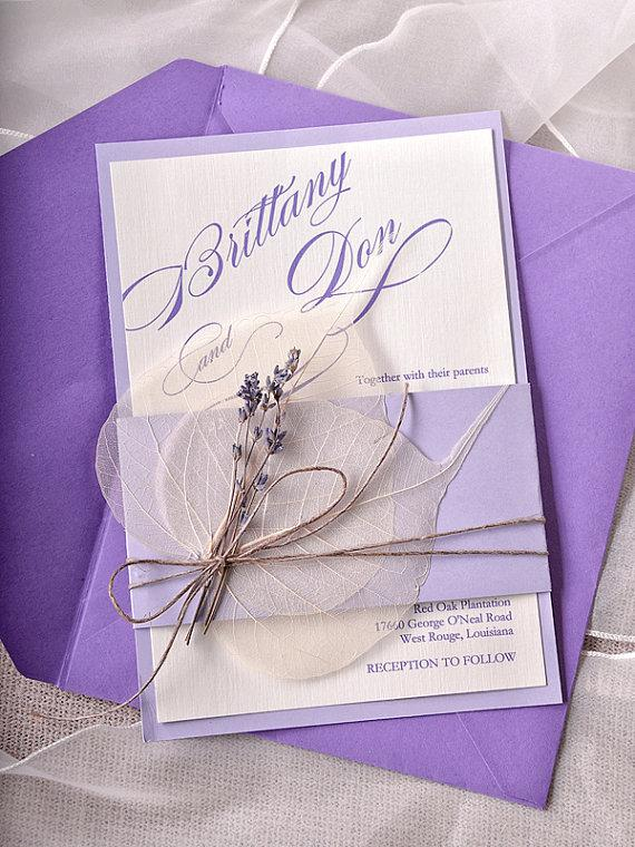 Captivating Custom Listing (100) Lavender Wedding Invitations, Lace Bally Band Wedding  Invitations, Vintage Wedding Invitation   New