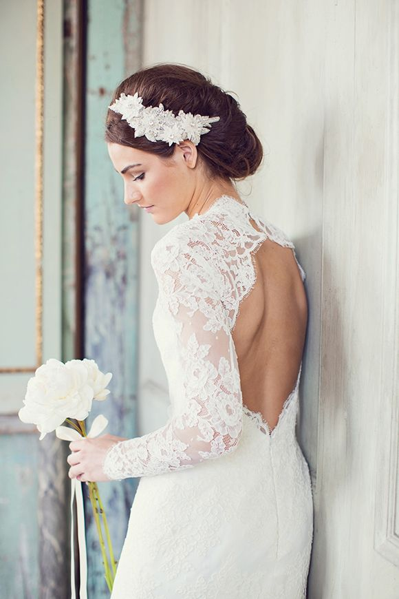 Gorgeous Lace Open Back Wedding Dress Photography Peaches Mint By Pia Clodi