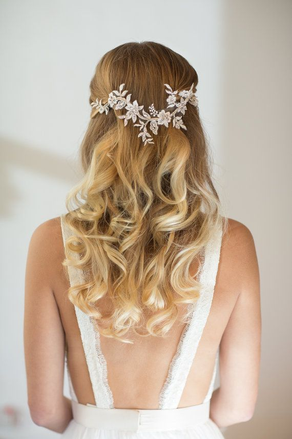 Wedding Hair Vine Lace Head Piece Bridal Hair Accessory