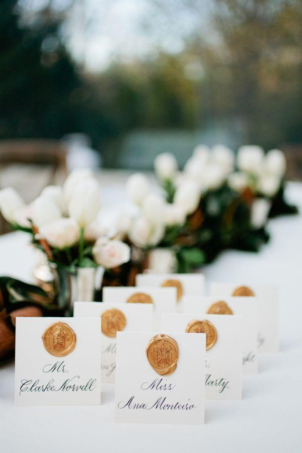 Mariage - Wax Seal Escort Cards