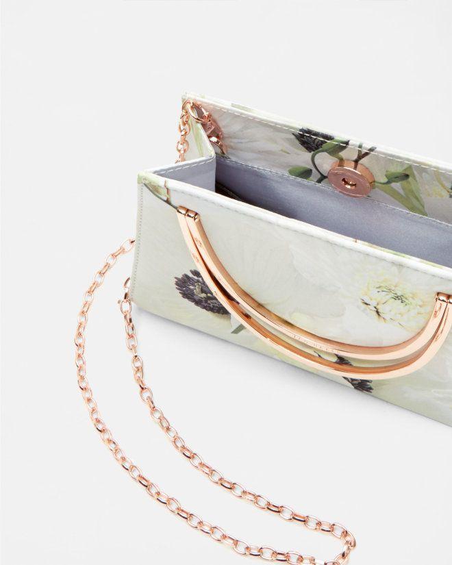 Wedding - Pearly Print Clutch Bag - Ash