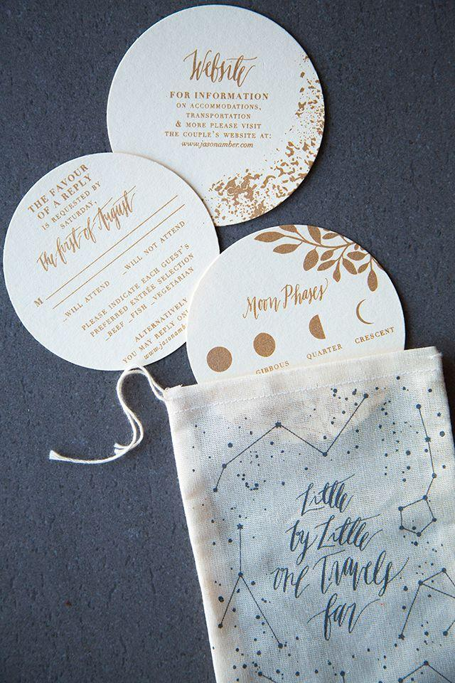 Shimmery Metallic Moon And Stars Wedding Invitations 2532622 Weddbook