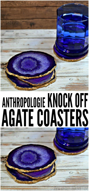 زفاف - Anthropologie Knock Off: DIY Agate Coasters