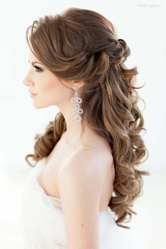 прически на свадьбу с распушиными волосами