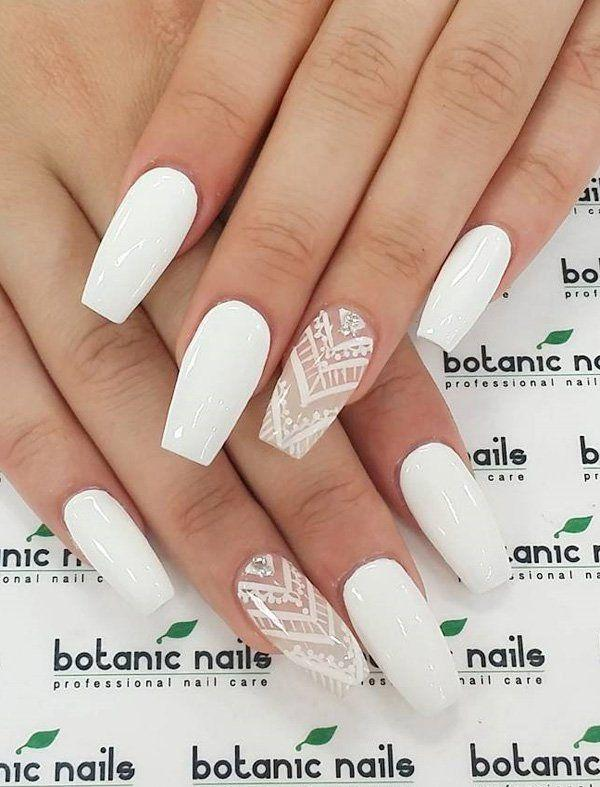 Mariage - 50 White Nail Art Ideas