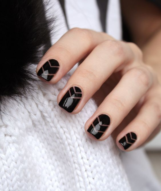 Свадьба - Negative Space Nail Designs To Try ASAP