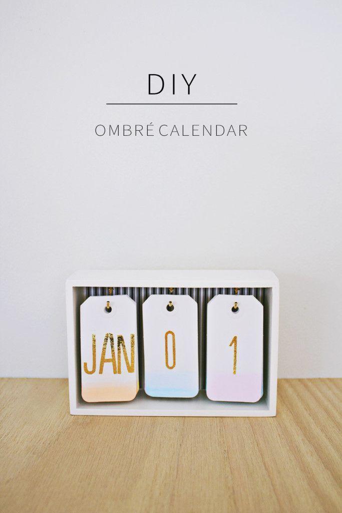 Hochzeit - DIY Desk Calendar