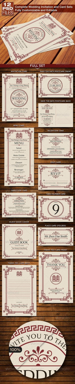 Свадьба - Cards - Invites Design Print Templates