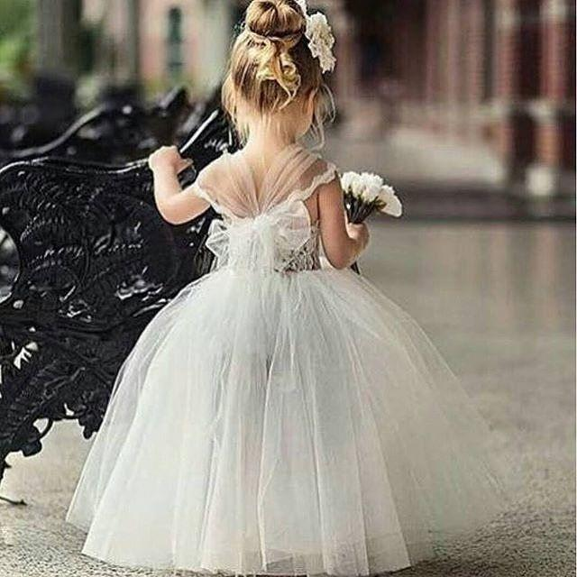 Strictlyweddings on instagram too adorable mini princess for Wedding dresses for young girls
