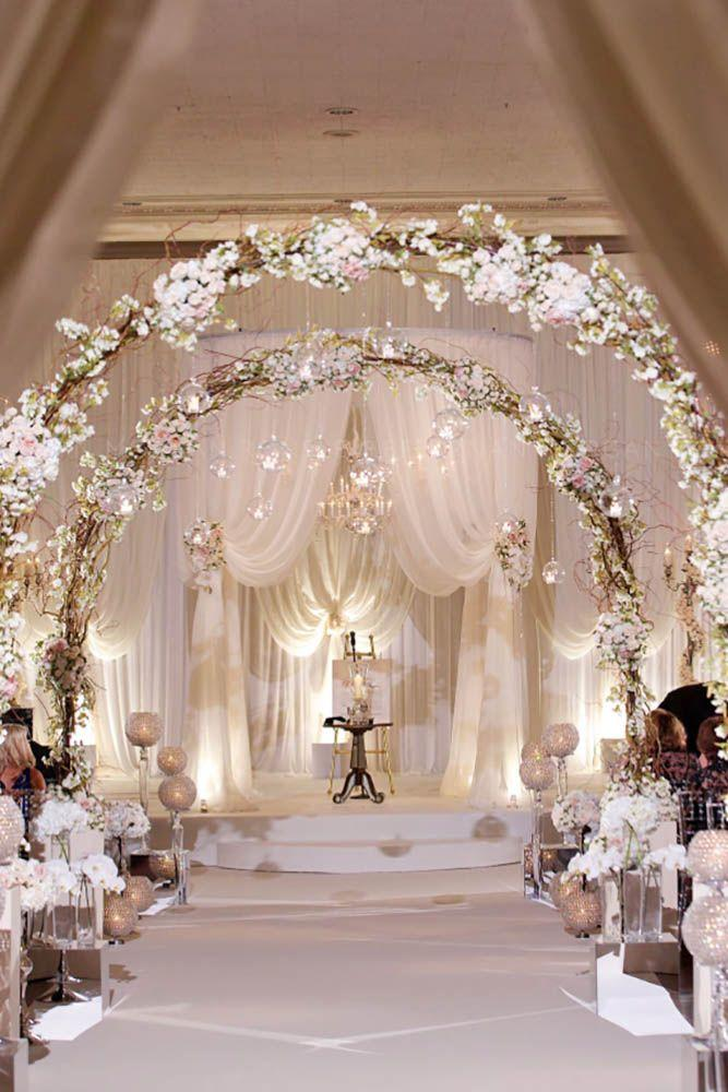 Dekor 40 White Wedding Decoration Ideas 40 Weddbook Fascinating Wedding Decor Designs