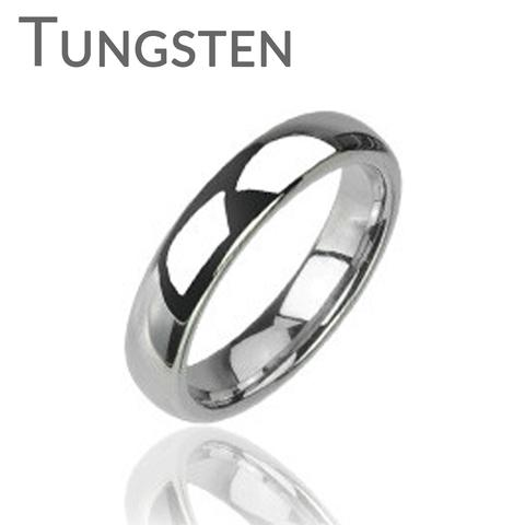 Wedding - Silver Tradition Tungsten Wedding Band - Tungsten Carbide Shiny Finish Traditional Wedding Band