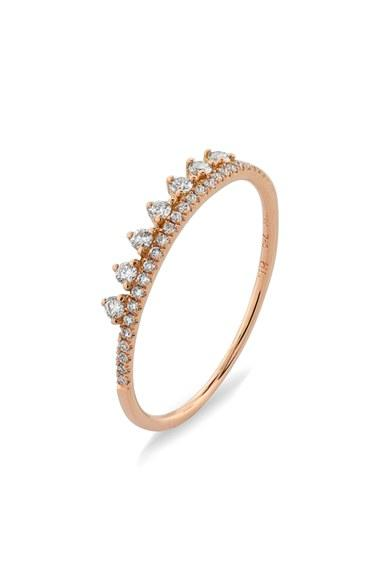 Mariage - Bony Levy 'Princess Crown' Stackable Diamond Ring (Nordstrom Exclusive)