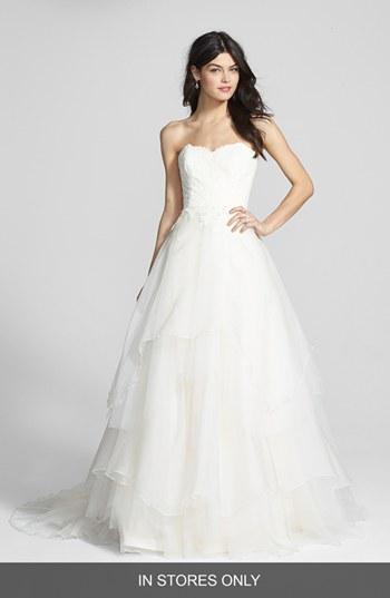 زفاف - Hayley Paige 'Mila' Strapless Silk Organza Wedding Dress (In Stores Only)