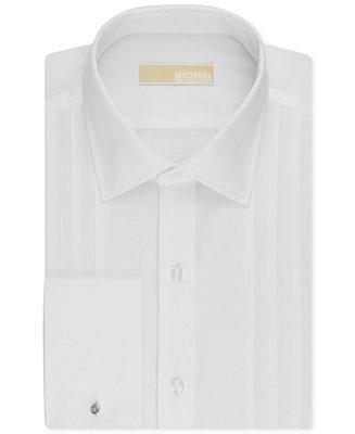 Hochzeit - MICHAEL Michael Kors Men's Classic-Fit French Cuff Tuxedo Shirt