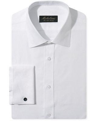 Mariage - Michelsons Michelsons Slim-Fit Chevron Textured French Cuff Tuxedo Shirt