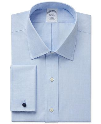 Wedding - Brooks Brothers Brooks Brothers Regent Classic-Fit Non-Iron Solid French Cuff Dress Shirt