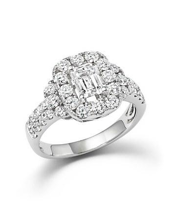 Свадьба - Bloomingdale's Emerald Cut Diamond Engagement Ring in 18K White Gold, 2.20 ct. t.w.