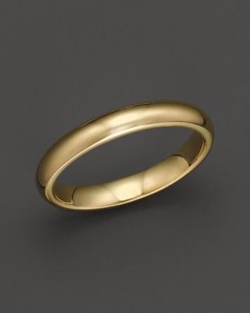 Hochzeit - Bloomingdale's Men's 14K Yellow Gold Comfort Feel Wedding Band