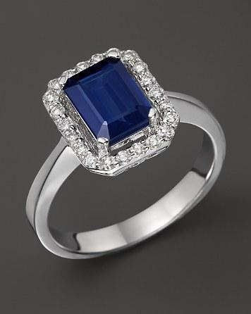 Mariage - Bloomingdale's Diamond & Sapphire Ring in 14K White Gold
