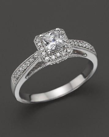 Hochzeit - Bloomingdale's Diamond Ring in 14K White Gold, .50 ct. tw.