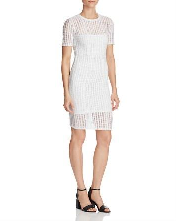 Mariage - T by Alexander Wang Perforated Stretch Jersey Dress