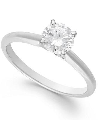Свадьба - Diamond Solitaire Engagement Ring in 14k White Gold (1 ct. t.w.)
