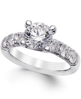 زفاف - X3 X3 Certified Diamond Engagement Ring (2-1/2 ct. t.w.) in 18k White Gold
