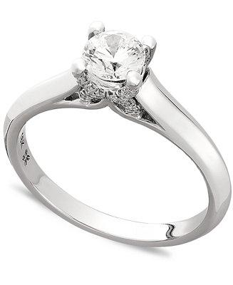 Mariage - X3 X3 Certified Diamond Engagement Ring in 18k Gold or 18k White Gold (1/2 ct. t.w.)