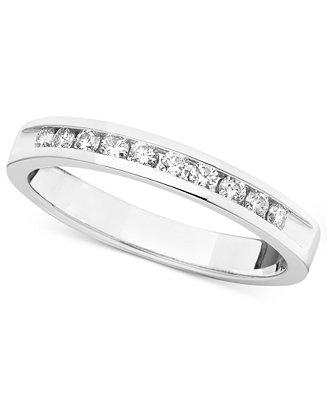 Mariage - Certified Diamond Band Ring in 14k White Gold (1/4 ct. t.w.)