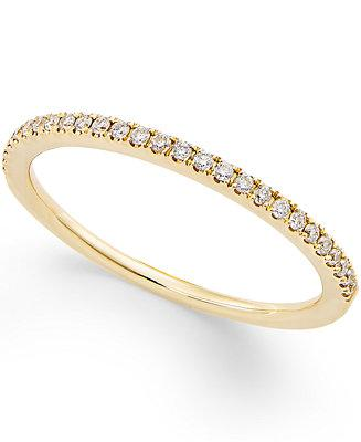 Mariage - Macy's Diamond Pavé Ring (1/8 ct. t.w.) in 14k Yellow or White Gold