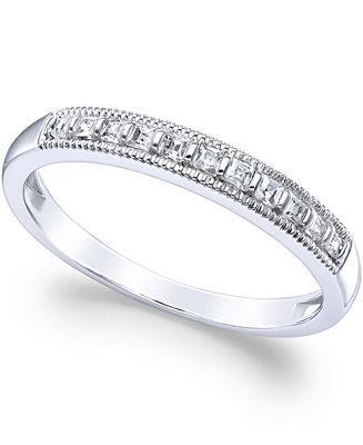 Wedding - Diamond Milgrain Ring in 14k White Gold (1/4 ct. t.w.)