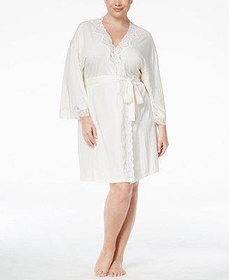 Свадьба - Lauren Ralph Lauren Lauren Ralph Lauren Plus Size Lace-Trimmed Knit Bridal Robe