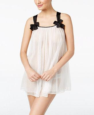 Hochzeit - kate spade new york kate spade new york Contrast-Trimmed Bridal Babydoll