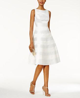 Hochzeit - Adrianna Papell Adrianna Papell Striped A-line Dress