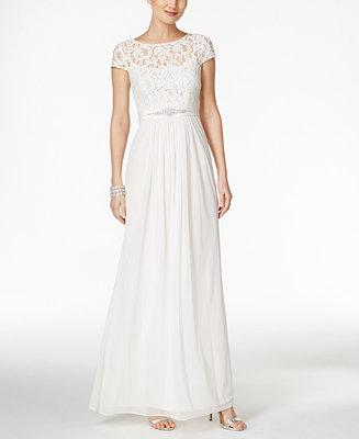 Hochzeit - Adrianna Papell Adrianna Papell Lace Illusion Gown